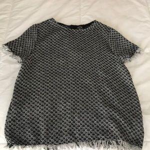 S/s sweater tweed